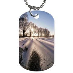 Winter Lake Cold Wintry Frozen Dog Tag (one Side)