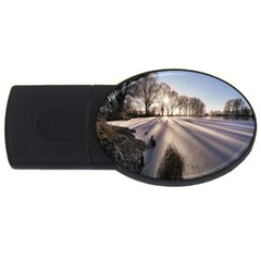 Winter Lake Cold Wintry Frozen Usb Flash Drive Oval (2 Gb)