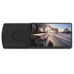Winter Lake Cold Wintry Frozen Rectangular Usb Flash Drive