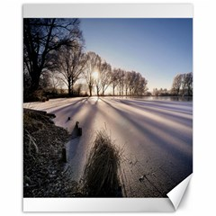 Winter Lake Cold Wintry Frozen Canvas 16  X 20