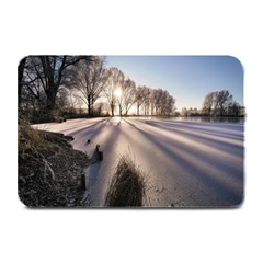 Winter Lake Cold Wintry Frozen Plate Mats