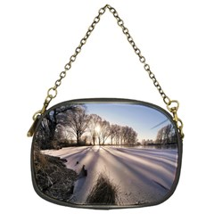 Winter Lake Cold Wintry Frozen Chain Purses (one Side)