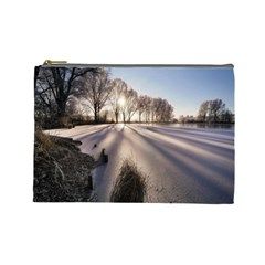 Winter Lake Cold Wintry Frozen Cosmetic Bag (large)