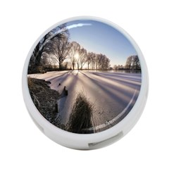 Winter Lake Cold Wintry Frozen 4 Port Usb Hub (two Sides)