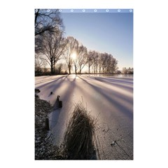 Winter Lake Cold Wintry Frozen Shower Curtain 48  X 72  (small)