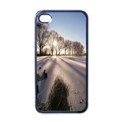 Winter Lake Cold Wintry Frozen Apple Iphone 4 Case (black)