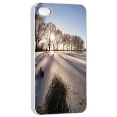 Winter Lake Cold Wintry Frozen Apple Iphone 4/4s Seamless Case (white)