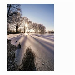 Winter Lake Cold Wintry Frozen Small Garden Flag (two Sides)