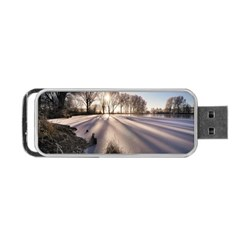 Winter Lake Cold Wintry Frozen Portable Usb Flash (two Sides)