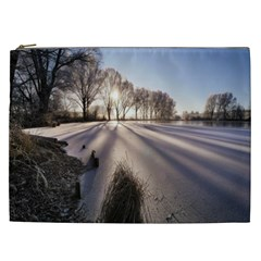 Winter Lake Cold Wintry Frozen Cosmetic Bag (xxl)