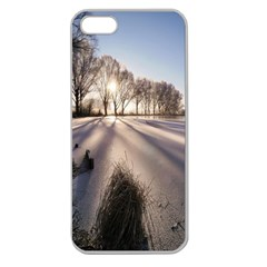 Winter Lake Cold Wintry Frozen Apple Seamless Iphone 5 Case (clear)