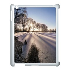 Winter Lake Cold Wintry Frozen Apple Ipad 3/4 Case (white)