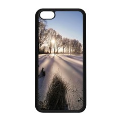 Winter Lake Cold Wintry Frozen Apple Iphone 5c Seamless Case (black)