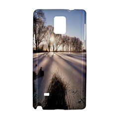 Winter Lake Cold Wintry Frozen Samsung Galaxy Note 4 Hardshell Case