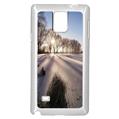 Winter Lake Cold Wintry Frozen Samsung Galaxy Note 4 Case (white)