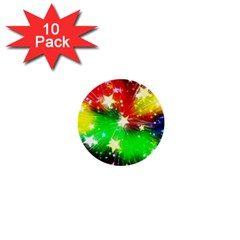 Star Abstract Pattern Background 1  Mini Buttons (10 Pack)