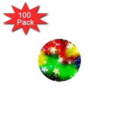 Star Abstract Pattern Background 1  Mini Magnets (100 Pack)
