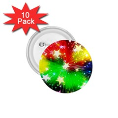 Star Abstract Pattern Background 1 75  Buttons (10 Pack)