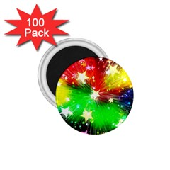 Star Abstract Pattern Background 1 75  Magnets (100 Pack)