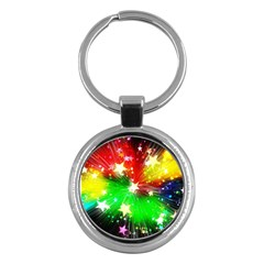 Star Abstract Pattern Background Key Chains (round)