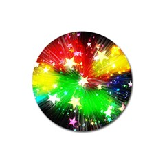 Star Abstract Pattern Background Magnet 3  (round)