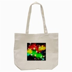 Star Abstract Pattern Background Tote Bag (cream)