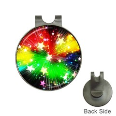 Star Abstract Pattern Background Hat Clips With Golf Markers