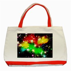 Star Abstract Pattern Background Classic Tote Bag (red)
