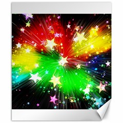 Star Abstract Pattern Background Canvas 8  X 10