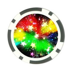 Star Abstract Pattern Background Poker Chip Card Guard