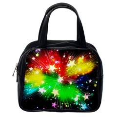 Star Abstract Pattern Background Classic Handbags (one Side)