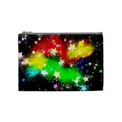 Star Abstract Pattern Background Cosmetic Bag (medium)