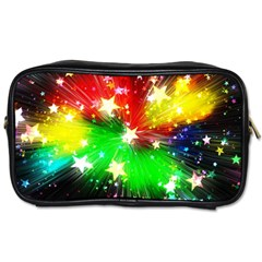 Star Abstract Pattern Background Toiletries Bags 2 Side