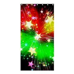 Star Abstract Pattern Background Shower Curtain 36  X 72  (stall)