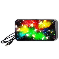 Star Abstract Pattern Background Portable Speaker