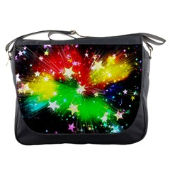 Star Abstract Pattern Background Messenger Bags