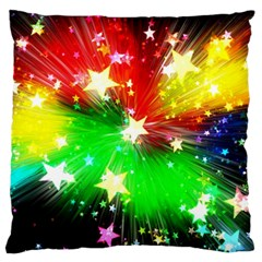 Star Abstract Pattern Background Large Cushion Case (one Side)