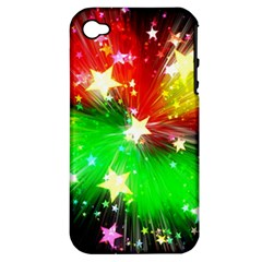 Star Abstract Pattern Background Apple Iphone 4/4s Hardshell Case (pc+silicone)