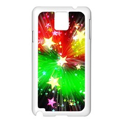 Star Abstract Pattern Background Samsung Galaxy Note 3 N9005 Case (white)