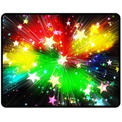 Star Abstract Pattern Background Double Sided Fleece Blanket (medium)