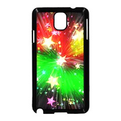 Star Abstract Pattern Background Samsung Galaxy Note 3 Neo Hardshell Case (black)