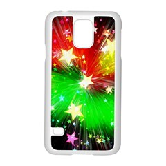 Star Abstract Pattern Background Samsung Galaxy S5 Case (white)