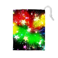 Star Abstract Pattern Background Drawstring Pouches (large)
