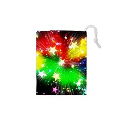 Star Abstract Pattern Background Drawstring Pouches (xs)