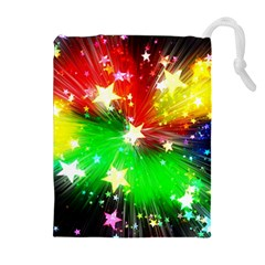 Star Abstract Pattern Background Drawstring Pouches (extra Large)
