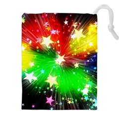 Star Abstract Pattern Background Drawstring Pouches (xxl)