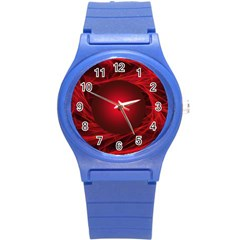 Abstract Scrawl Doodle Mess Round Plastic Sport Watch (s)