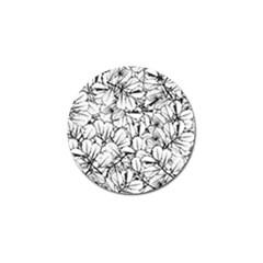 White Leaves Golf Ball Marker (10 Pack)
