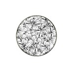 White Leaves Hat Clip Ball Marker (10 pack) Front