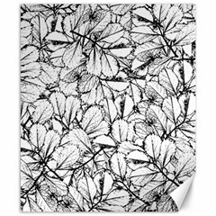 White Leaves Canvas 8  X 10
